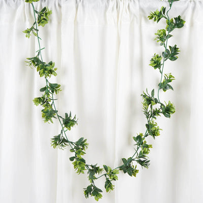 2 Pack | 10 FT Dark & Light Green Artificial Leaf Garland