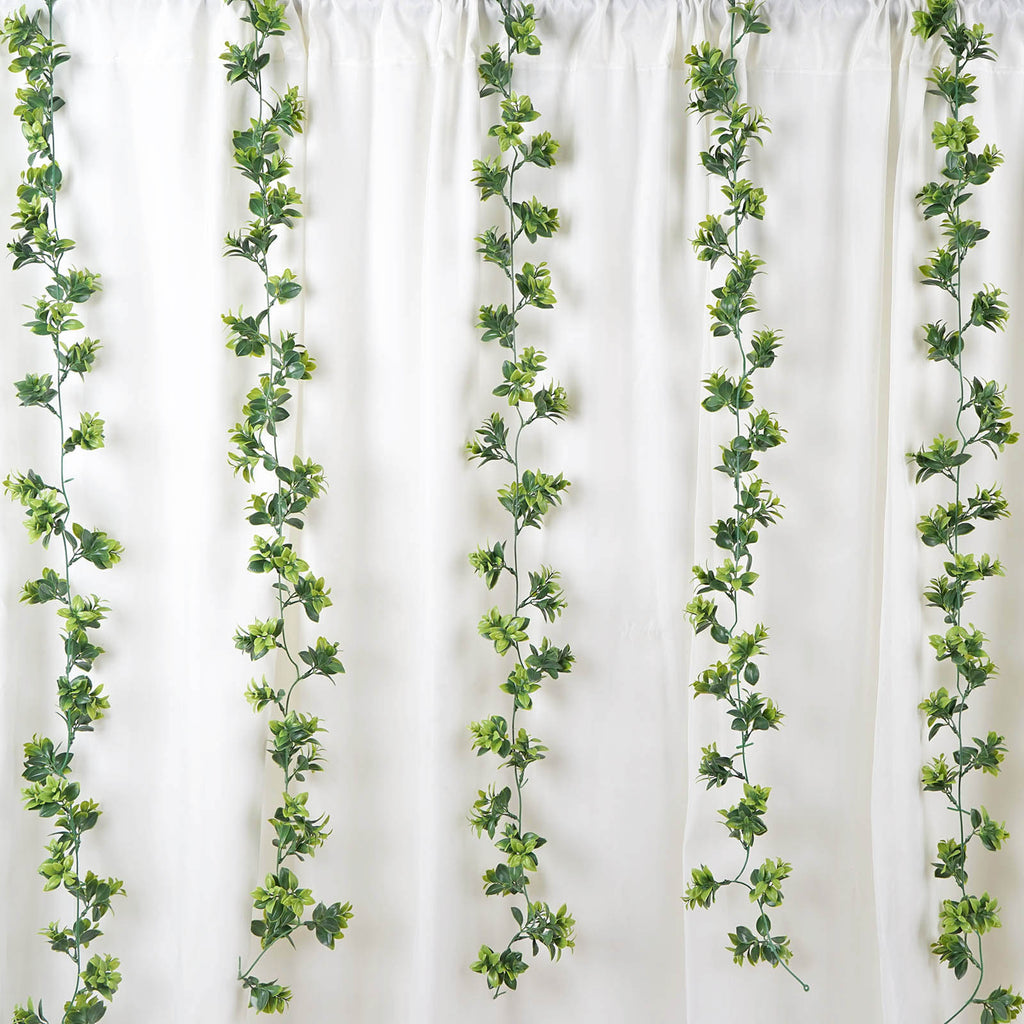 2 Pack 10 Ft Dark Amp Light Green Artificial Leaf Garland