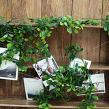 8 FT Green Artificial Boxwood Leaf Garland