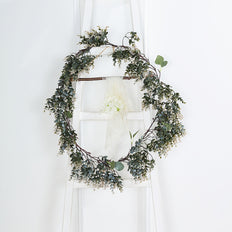 6FT | Real Touch Artificial Eucalyptus & Boxwood Garland, Greenery Garland Wedding Arch Decorations