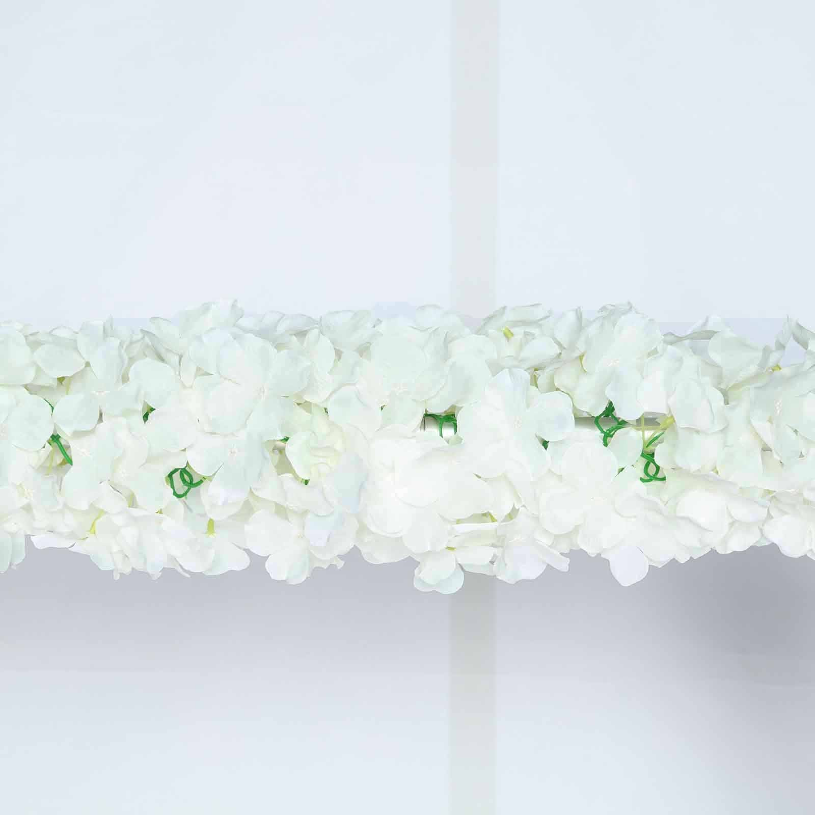 7 ft cream silk hydrangea artificial flower garland tablecloths 7 ft cream silk hydrangea artificial flower garland mightylinksfo