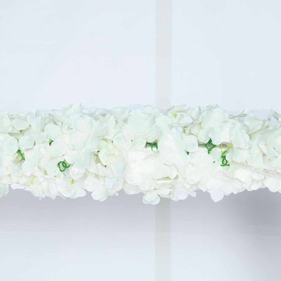 7 FT Cream Artificial Flower Silk Hydrangea Garland