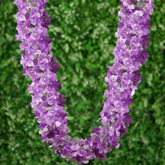 7 FT Purple Silk Hydrangea Artificial Flower Garland