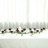6 ft | Wine | Silk Peony Garland | Bendable Wire Vines | Artificial Flower Garlands with Leaves