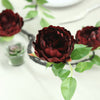 6 FT Wine Silk Peony Flowers Garland | Artificial Wedding Garland | 14 Flowers