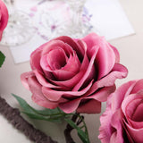 6 ft | Dusty Rose | Silk Rose Garland | Bendable Wire Vines | Artificial Flower Garlands with Leaves