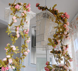 6FT Supersized Rose Flower Garland Chain For Wedding Arch Gazebo Decor-Chocolate-Buy 1 Get 3 Free