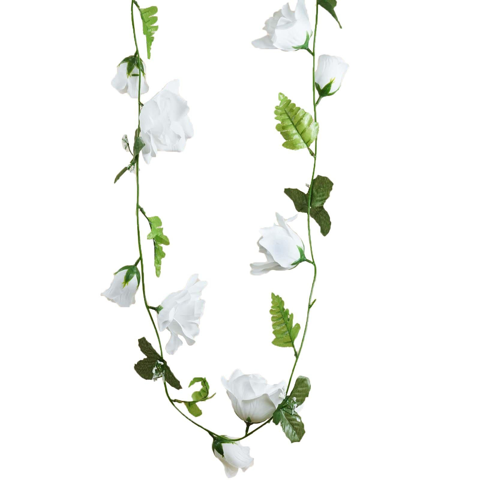 4 pack 24 ft white uv protected supersized rose chain artificial 4 pack 24 ft white uv protected supersized rose chain artificial flower garland wedding arch stage decoration mightylinksfo