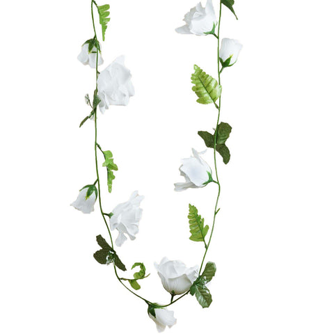 4 pack 24 ft white uv protected supersized rose chain artificial 4 pack 24 ft white uv protected supersized rose chain artificial flower garland wedding arch stage mightylinksfo