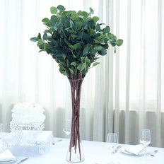 "2 Bushes | 36"" Green Flexible Artificial Eucalyptus Stems 