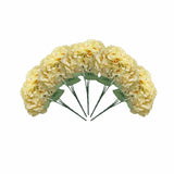 5 Bushes | 25 Heads Light Yellow Silk Artificial Hydrangeas Arrangements Bushes