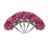 5 Bushes | 25 Heads Dark Lavender/Pink Silk Hydrangea Artificial Flower Bushes