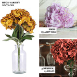 5 Bushes | 25 Heads Red Silk Hydrangea Artificial Flower Bushes