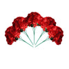 4 Bushes | 20 Heads Red Silk Hydrangea Artificial Flower Bushes