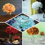10 Pack | White Artificial Hydrangeas Head and Wire Stems - DIY Dual Tone Hydrangea Flower Arrangements