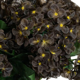 Chocolate Artificial Hydrangea Bush Wedding Vase Centerpiece Floral Decor - Buy 1 Get 3 Free