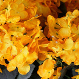 Orange Artificial Hydrangea Bush Wedding Vase Centerpiece Floral Decor - Buy 1 Get 3 Free