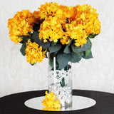 "4 Bushes 18"" Orange Artificial Hydrangea Vase Decoration Flowers"