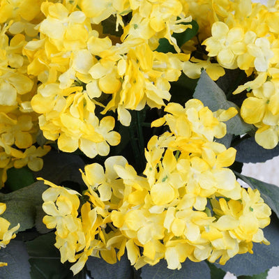 Yellow Artificial Hydrangea Bush Wedding Vase Centerpiece Floral Decor - Buy 1 Get 3 Free