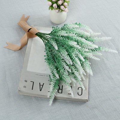 4 Bushes | 14inch White Artificial Lavender Bouquet | Artificial Wedding Bouquet