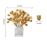 12 Bush Gold 180 Rose Buds With Baby Breath Real Touch Artificial Silk Flowers