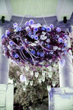 12 Bush Purple 180 Rose Buds With Baby Breath Real Touch Artificial Silk Flowers