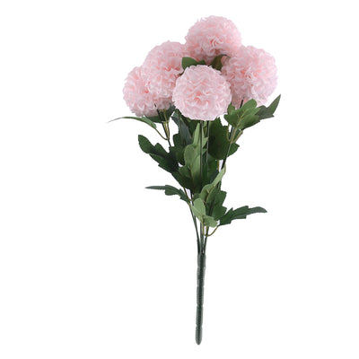 "4 Bushes | 16"" Blush Artificial Silk Chrysanthemum Flowers 