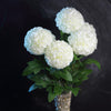 "4 Bushes | 16"" Ivory Artificial Silk Chrysanthemum Flowers 
