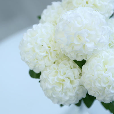 4 Bushes | 28 Heads Ivory Silk Chrysanthemum Artificial Flowers