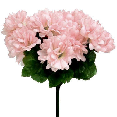 12 Bush 84 pcs Blush Artificial Silk Chrysanthemum Flowers