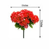 12 Bush 84 pcs Coral Artificial Silk Chrysanthemum Flowers