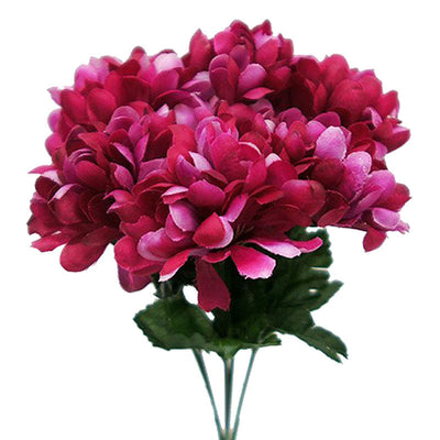 84 Silk Chrysanthemum - Fushia