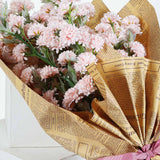2 Bushes - 33inches Chrysanthemum Flower, Artificial Mums, Flower Spray