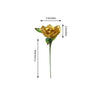 24 Bush 168 Pcs Gold Artificial Velvet Bloom Roses Flowers