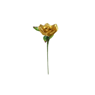 24 Bush 168 Pcs Gold Artificial Bloom Roses Flowers