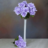 168 Wholesale Artificial Velvet Bloom Roses Wedding Flower Vase Centerpiece Decor -Lavender