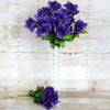 24 Bush 168 Pcs Purple Artificial Bloom Roses Flowers
