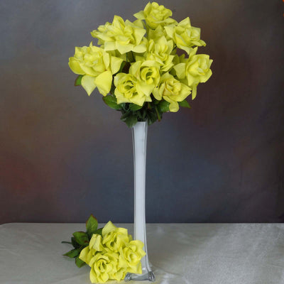 168 Wholesale Artificial Velvet Bloom Roses Wedding Flower Vase Centerpiece Decor -Sage