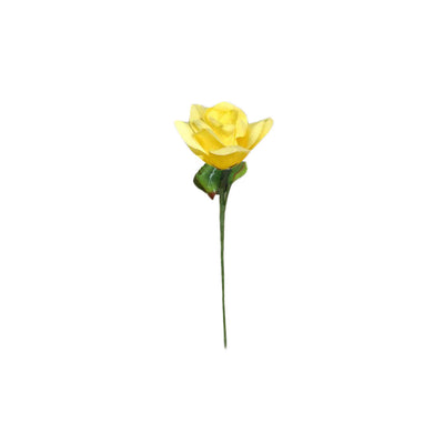 24 Bush 168 Pcs Yellow Artificial Bloom Roses Flowers