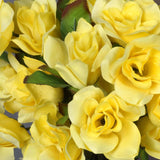 Velvet Bloom Roses-Yellow-168/pk