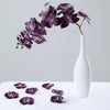 "20pcs | 4"" Eggplant Butterfly Orchid Artificial Flower Heads, DIY Craft Silk Flowers"