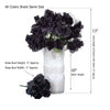12 Bush 84 pcs Chocolate Artificial organza Rose Bud Flowers