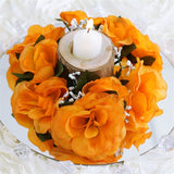 8 PCS Wholesale Candle Rings Wedding Flower Rose Tabletop Centerpieces Gift - Orange