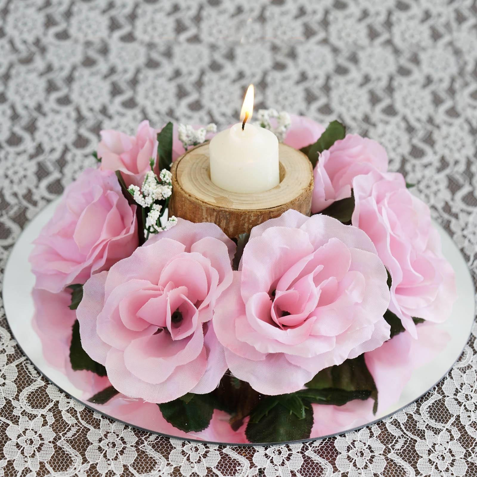 8 PCS Wholesale Candle Rings Wedding Flower Rose Tabletop ...
