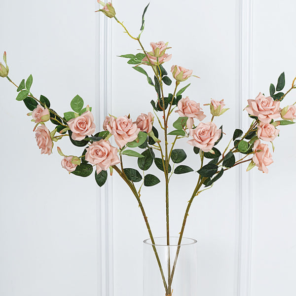 "Pack of 2 | 38"" Dusty Rose Silk Long Stem Roses, Artificial Flowers Rose Bouquet"