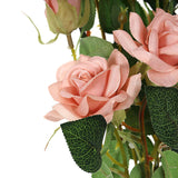 Pack of 2 | 38 inch Dusty Rose Silk Long Stem Roses, Artificial Flowers Rose Bouquet