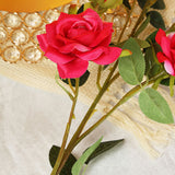 Pack of 2 | 38 inch Fushia Silk Long Stem Roses, Artificial Flowers Rose Bouquet