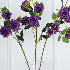 Pack of 2 | 38 inch Purple Silk Long Stem Roses, Artificial Flowers Rose Bouquet