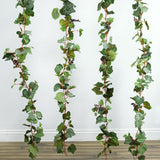 4 Pack 24 Ft UV Protected Artificial Frosted Grape & Leaf Chain Garland