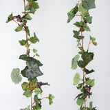6FT Artificial Frosted Grape & Leaf Chain Garland Wedding Arch Gazebo Decor - Buy 1 Get 3 Free